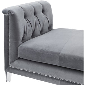 TOV Furniture Modern Naomi Grey Loveseat TOV-CL11-Minimal & Modern