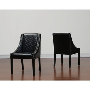 TOV Furniture Modern Lenox Leather Dining Chair (Set of 2) TOV-D20-Minimal & Modern