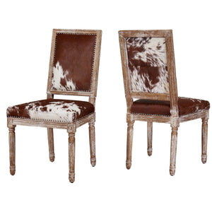TOV Furniture Modern Cowgirl Hide Chair (Set of 2) TOV-D2050-Minimal & Modern