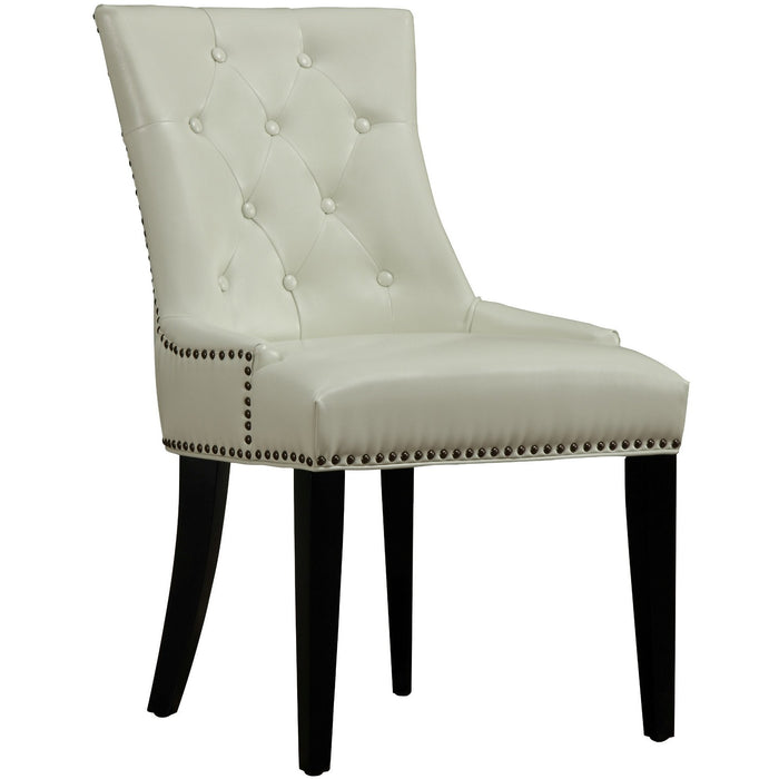 TOV Furniture Modern Uptown Cream Leather Dining Chair TOV-D29-Minimal & Modern