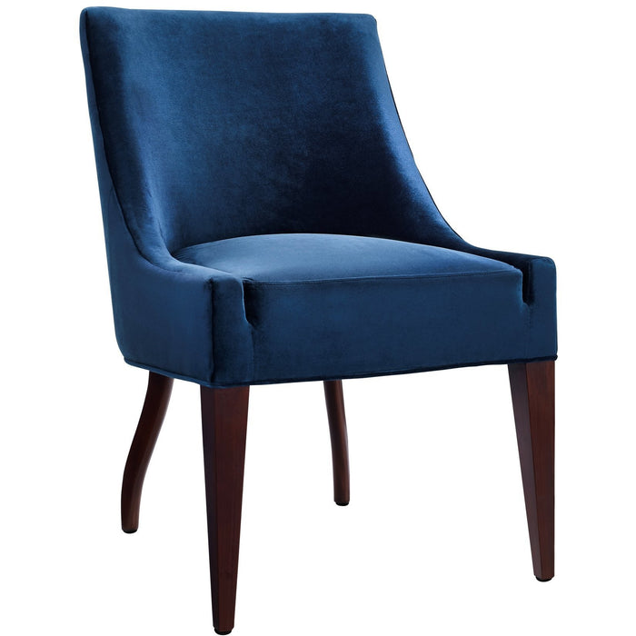 TOV Furniture Modern Dover Blue Velvet Dining Chair TOV-D35-Minimal & Modern