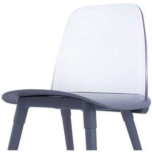TOV Furniture Modern Pasha Grey Acrylic Chair (Set of 2) - TOV-D3904-Minimal & Modern