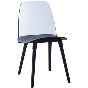 TOV Furniture Modern Pasha Black Acrylic Chair (Set of 2) - TOV-D3906-Minimal & Modern