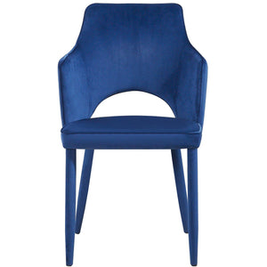 TOV Furniture Modern Aquila Navy Velvet Chair - TOV Furniture, Minimal & Modern - 1