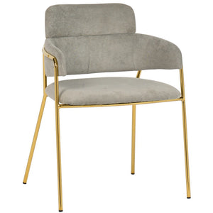 TOV Furniture Karl Grey Linen Chair - Set of 2 | Gold Legs - Set of 2 TOV-D4309