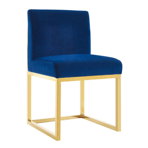 TOV Furniture Modern Haute Navy Velvet Chair TOV-D44-Minimal & Modern