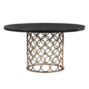 TOV Furniture Modern Valentina Brass Round Dining Table TOV-D44010-Minimal & Modern