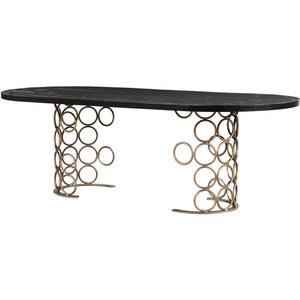 TOV Furniture Modern Valentina Brass Dining Table TOV-D44011-Minimal & Modern