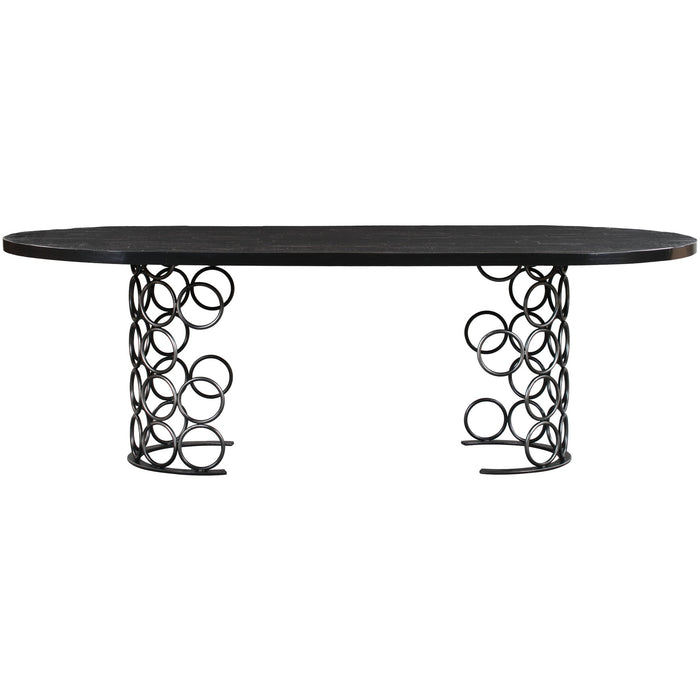 TOV Furniture Modern Valentina Black Dining Table TOV-D44012-Minimal & Modern