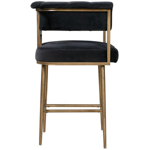 TOV Furniture Modern Astrid Grey Velvet Counter Stool TOV-D44025