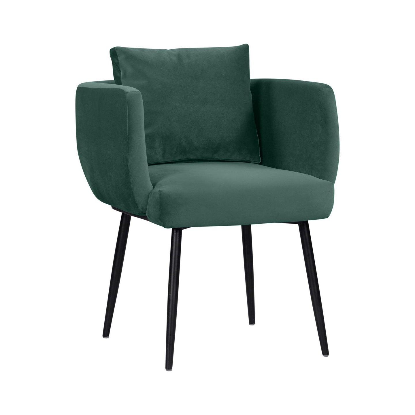 TOV Furniture Modern Alto Forest Green Velvet Chair - TOV Furniture, Minimal & Modern - 1