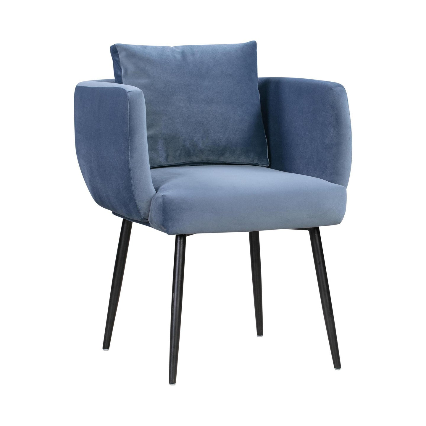 TOV Furniture Modern Alto Cascadia Blue Velvet Chair - TOV Furniture, Minimal & Modern - 1