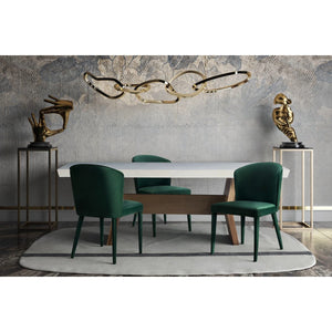 TOV Furniture Modern Metropolitan Forest Green Velvet Dining Chair - TOV-D54-Minimal & Modern