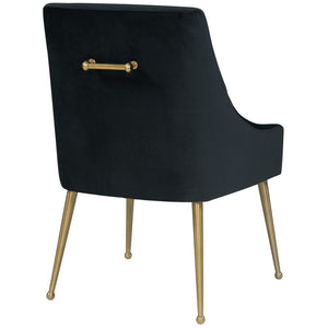 TOV Furniture Modern Beatrix Black Velvet Side Chair TOV-D6179