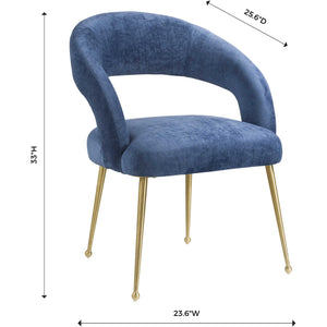 TOV Furniture Modern Rocco Slub Navy Dining Chair TOV-D6188-Minimal & Modern
