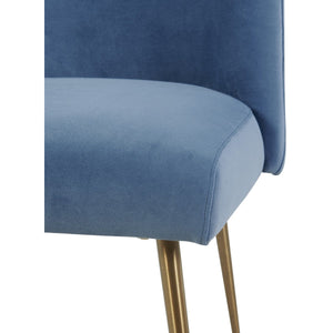 TOV Furniture Modern Batik Ocean Blue Velvet Dining Chair TOV-D6214