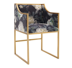 TOV Furniture Modern Atara Floral Velvet Gold Chair TOV-D6349