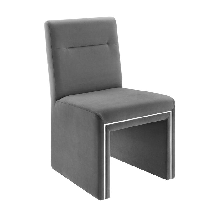 TOV Furniture Modern Jaffa Grey Performance Velvet Dining Chair TOV-D6385
