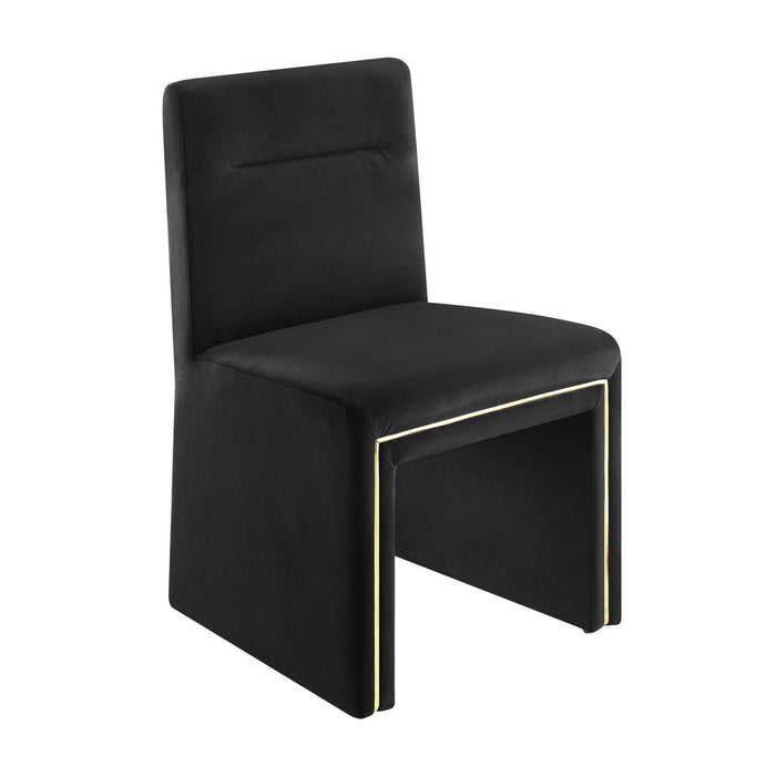 TOV Furniture Modern Jaffa Black Performance Velvet Dining Chair TOV-D6386