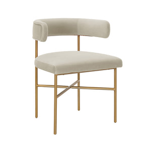 TOV Furniture Modern Kim Performance Velvet Chair in Cream - TOV Furniture, Minimal & Modern - 1