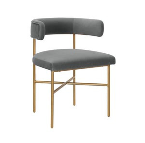 TOV Furniture Modern Kim Performance Velvet Chair in Grey - TOV Furniture, Minimal & Modern - 1