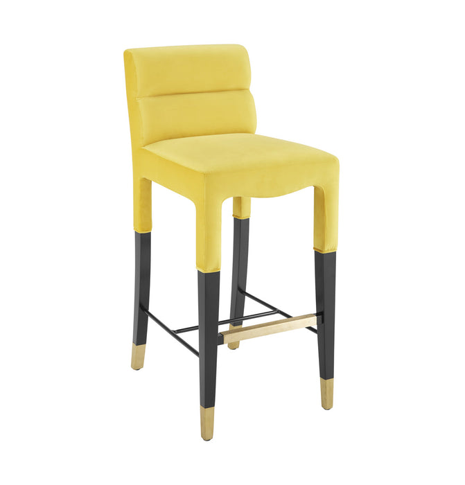 TOV Furniture Modern Taylor Burnt Gold Velvet Barstool - TOV-D6450