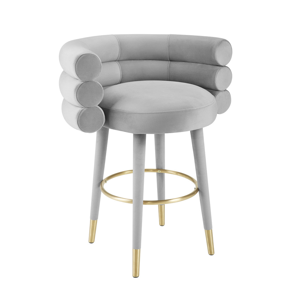 TOV Furniture Modern Betty Grey Velvet Counter Stool - TOV-D6453