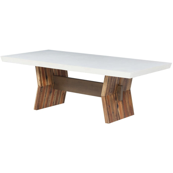 TOV Furniture Modern Astoria White Concrete Table - TOV-D7065-Minimal & Modern