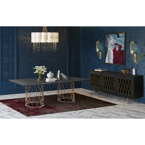 TOV Furniture Modern Gatsby Wood Dining Table - TOV Furniture, Minimal & Modern -  3