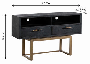 TOV Furniture Modern Irma Shagreen TV Stand - TOV-E44021