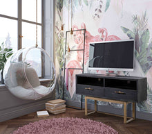 TOV Furniture Modern Irma Shagreen TV Stand - TOV Furniture, Minimal & Modern - 1