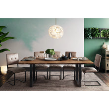 TOV Furniture Modern Carter Wooden Rectangular Table & Smokey Taupe Dining Chairs (Choice of 4 or 6 or 8 chairs)-Minimal & Modern