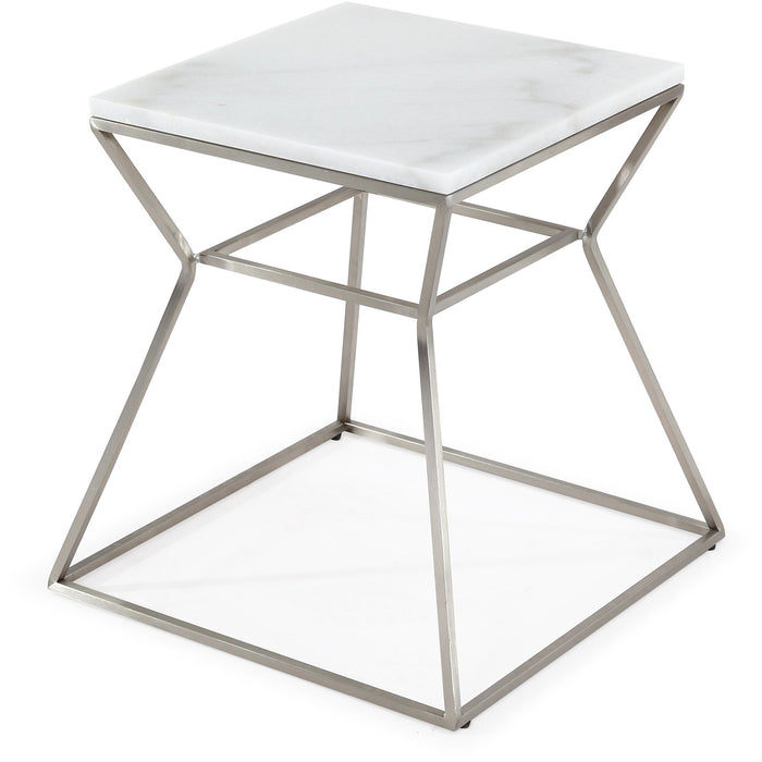 TOV Furniture Modern Zamora Marble Side Table - TOV-G5500-Minimal & Modern