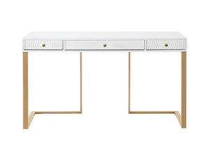 TOV Furniture Modern Janie White Lacquer Desk - TOV Furniture, Minimal & Modern - 1