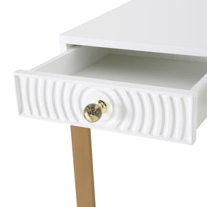 TOV Furniture Modern Janie White Lacquer Desk - TOV-H5519