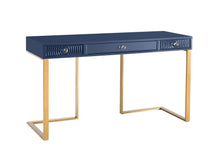 TOV Furniture Modern Janie Blue Lacquer Desk - TOV Furniture, Minimal & Modern - 1