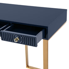 TOV Furniture Modern Janie Blue Lacquer Desk - TOV-H5520