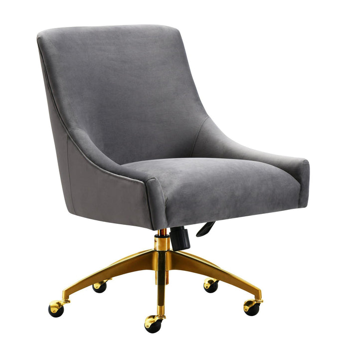 TOV Furniture Modern Beatrix Grey Office Swivel Chair TOV-H7231-Minimal & Modern