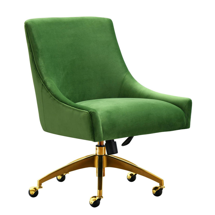 TOV Furniture Modern Beatrix Green Office Swivel Chair TOV-H7232-Minimal & Modern