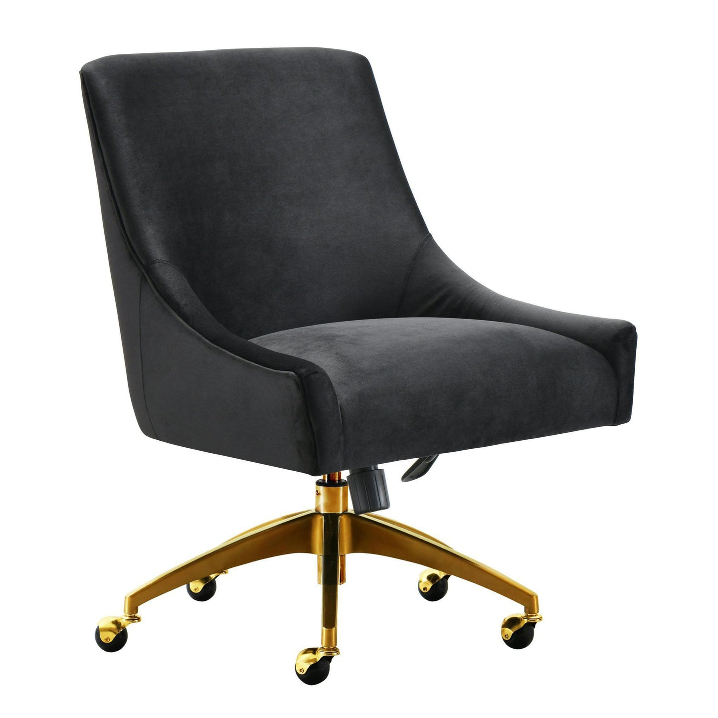 TOV Furniture Modern Beatrix Black Office Swivel Chair TOV-H7234-Minimal & Modern