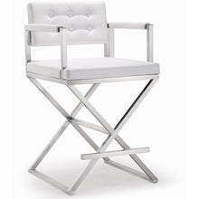 TOV Furniture Modern Director White Steel Counter Stool TOV-K3624-Minimal & Modern