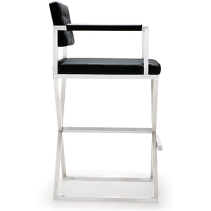 TOV Furniture Modern Director Black Steel Barstool TOV-K3625-Minimal & Modern