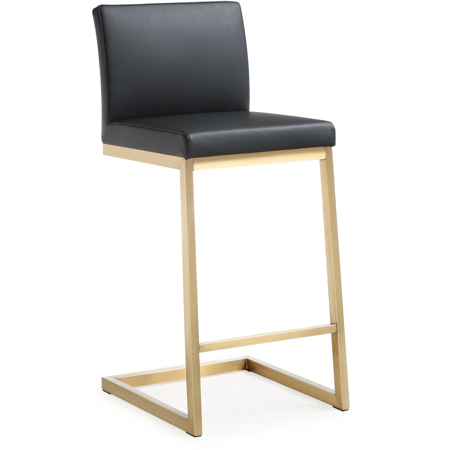 TOV Furniture Modern Parma Black Gold Steel Counter Stool - TOV-K3665-Minimal & Modern