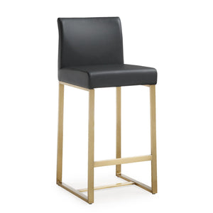TOV Furniture Modern Denmark Black Gold Steel Counter Stool - TOV-K3671 (Set of 2)-Minimal & Modern