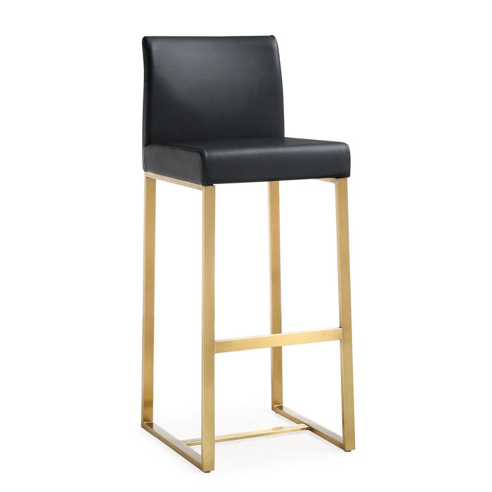 TOV Furniture Modern Denmark Black Gold Steel Barstool - TOV-K3673 (Set of 2)-Minimal & Modern