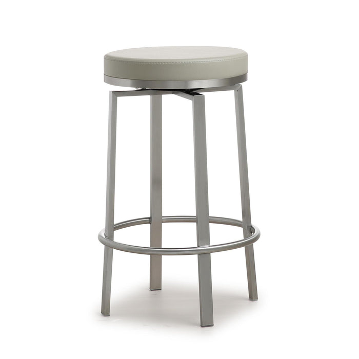 TOV Furniture Modern Pratt Grey Steel Counter Stool - Set of 2 - TOV-K3677-Minimal & Modern