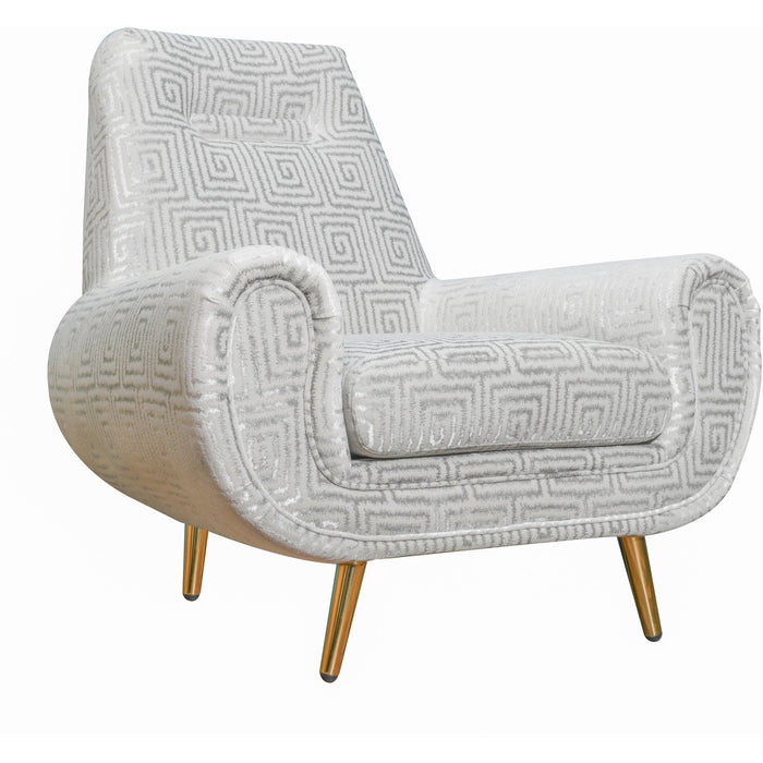 TOV Furniture Modern Piper Silver Patterned Chair - TOV-L4906-Minimal & Modern