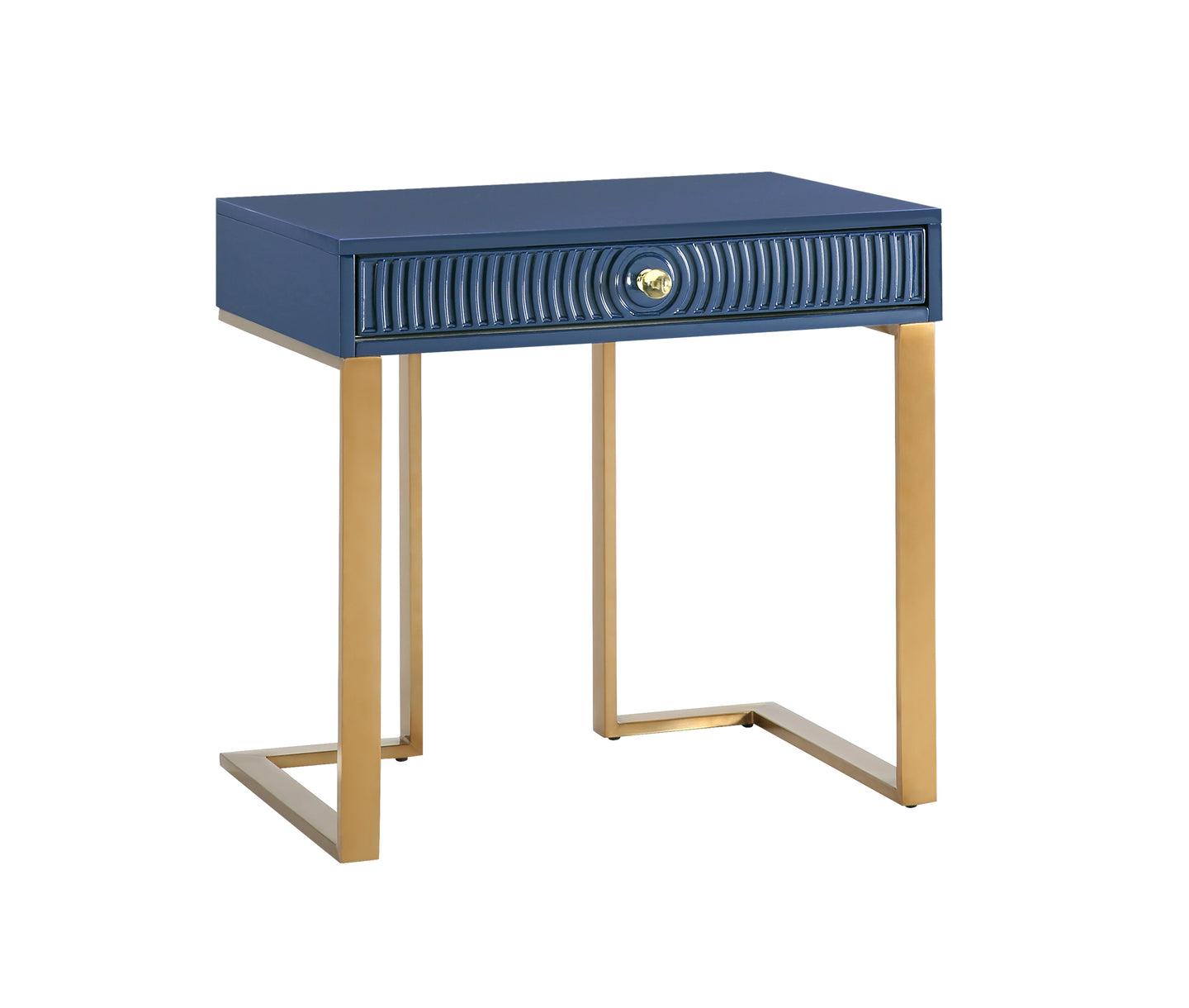 TOV Furniture Modern Janie Blue Lacquer Side Table - TOV Furniture, Minimal & Modern - 1