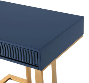 TOV Furniture Modern Janie Blue Lacquer Side Table - TOV-L5522