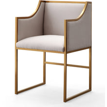 TOV Furniture Modern Atara Cream Velvet Gold Chair - TOV-L6122-Minimal & Modern